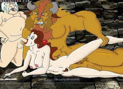 the beauty and nude belle beast Foxy from five nights at freddy's