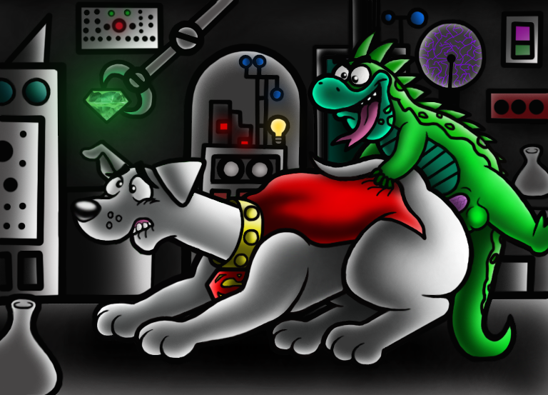 the kevin superdog and krypto andrea Wii fit trainer porn comic