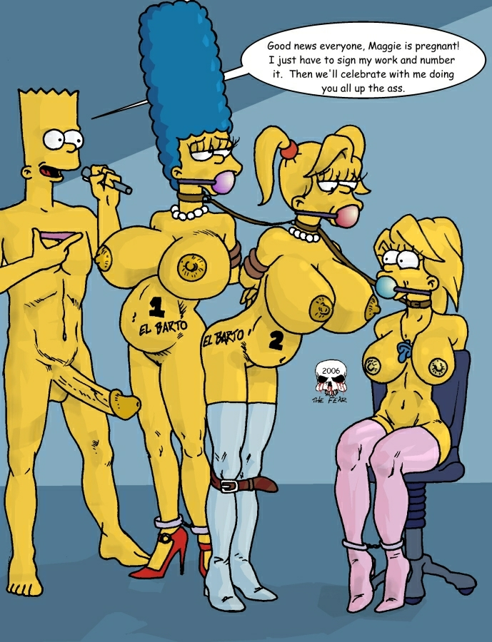 marge with bart naked simpson Game and wario 5 volt