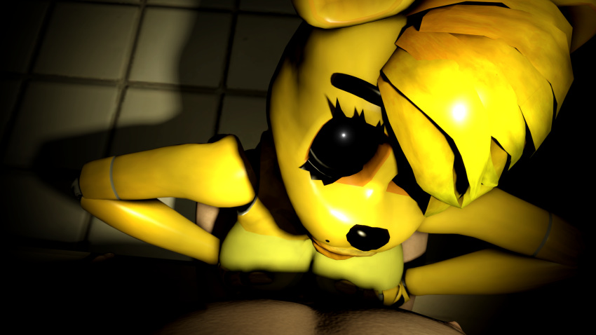 chica freddy's screenshot at nights five Blue and yellow pearl steven universe